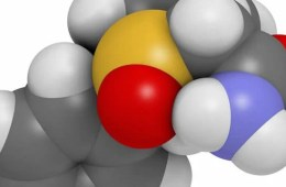 This shows the molecular structure of Modafinil.