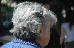 Photo of an old lady.
