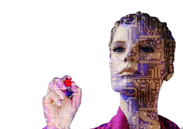 Image of a computerized woman.
