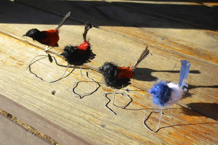 Image shows fake wren models.