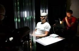 Jason Silva in an EEG cap.