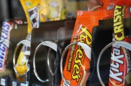 Image shows candy bars.