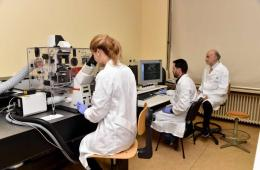Image shows the researchers in their lab.