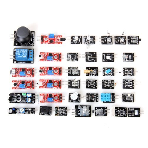 Robotlinking 37-in-1 Sensor Module Kit for Arduino UNO, Black