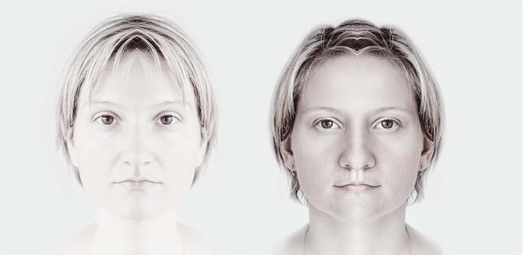 Image shows two women's faces.