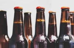 Image shows beer bottles.