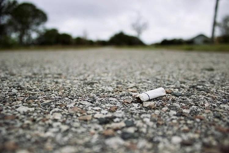Image shows a cigarette butt.