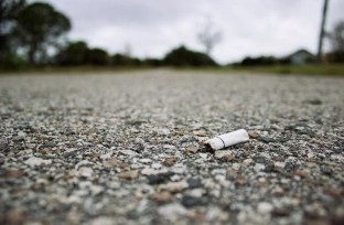 Image shows a cigarette butt.