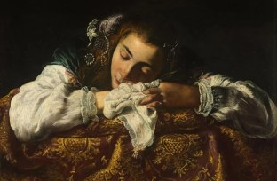 """Sleeping Girl"" by Domenico Fetti."