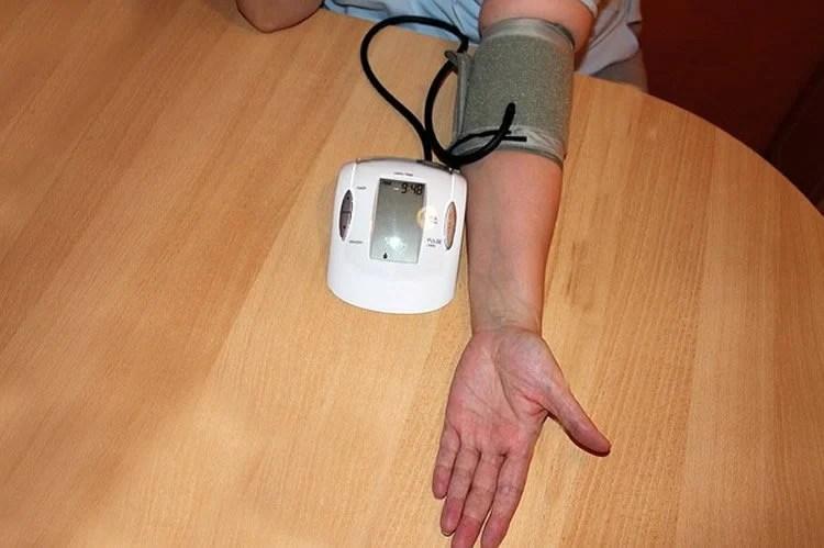 Image shows a blood pressure machine.