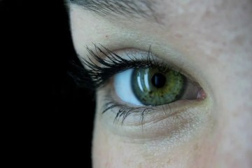 Image shows a child's eye.