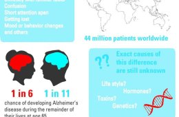 Image shows an alzheimer's infographic.