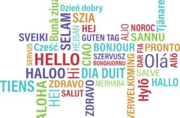 "Image shows the word ""hello"" written in different languages."