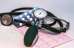 Image shows a blood pressure machine.