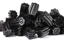 Image shows liquorice pieces.
