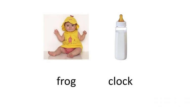 Image shows a baby and a bottle.