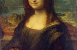 Image shows Mona Lisa.