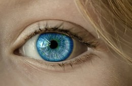 Image shows a blue eye.