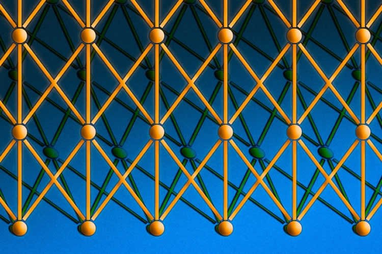 Image shows a network of balls and sticks.