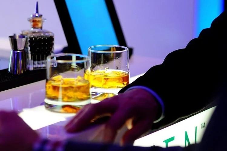 Image shows cocktails.