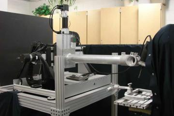 Image shows the surgical robotic drill.