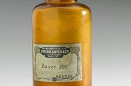 Image shows an old medicine bottle