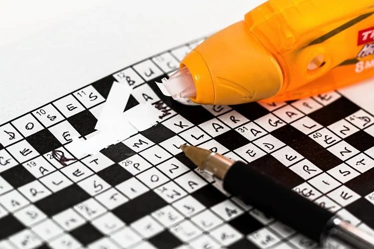 Image shows a crossword puzzle.