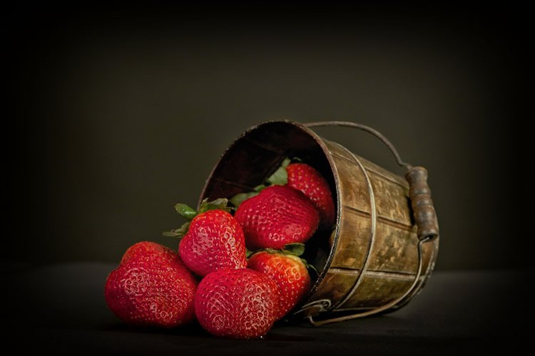 strawberries are shown.