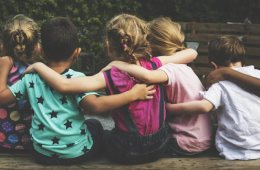 Image shows a group of kids.