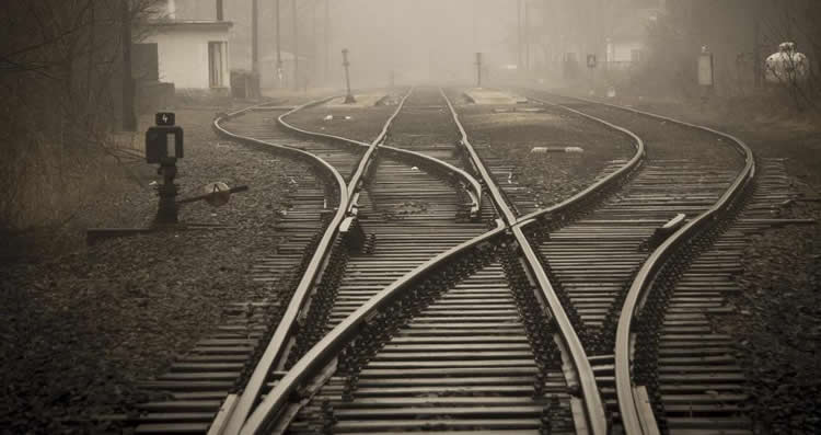 Image shows a rail track.