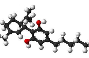 Image shows the structure of CBD.