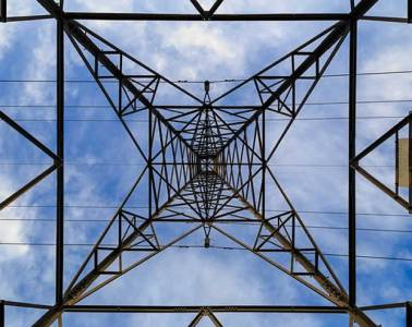 Image shows a pylon.
