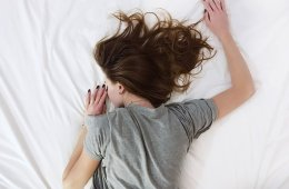 Image shows a teen sleeping.