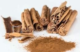 Image shows cinnamon sticks.