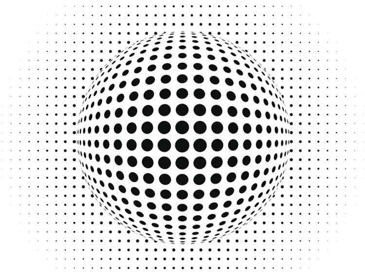 Image shows a dotty ball.