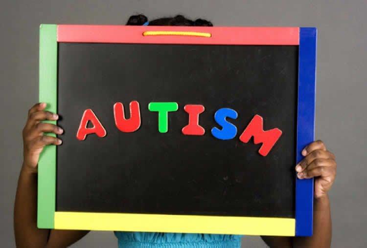 autism written on a board