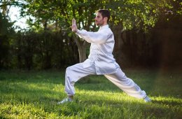 a man doing tai chi
