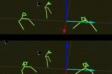 motion tracking of the musicians