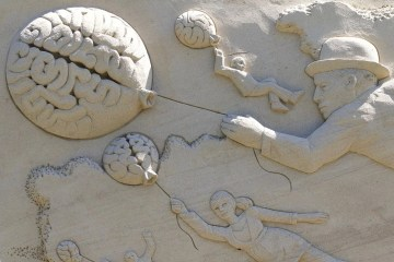 This shows brains made out of sand