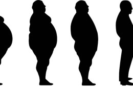 This shows a person at different levels of obesity