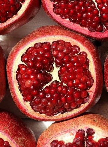 This shows pomegranates