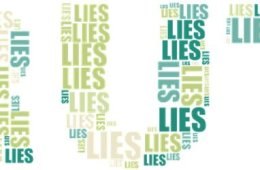 This shows the word truth made out of the word lies