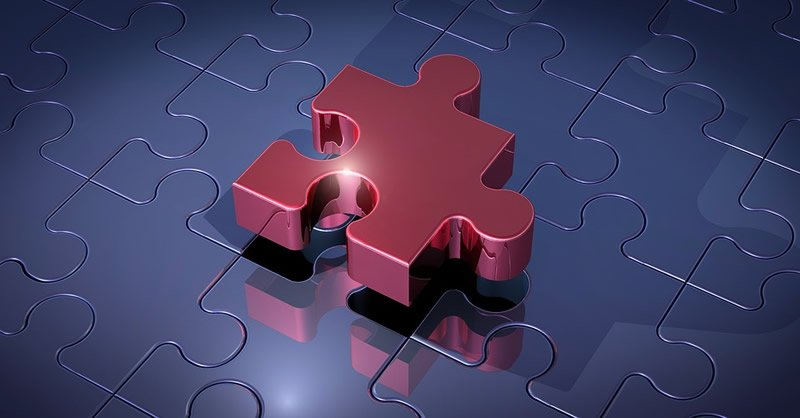 This shows a jigsaw puzzle