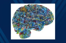 This shows the outline of a brain with a where's waldo image inside