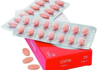 This shows statin pills