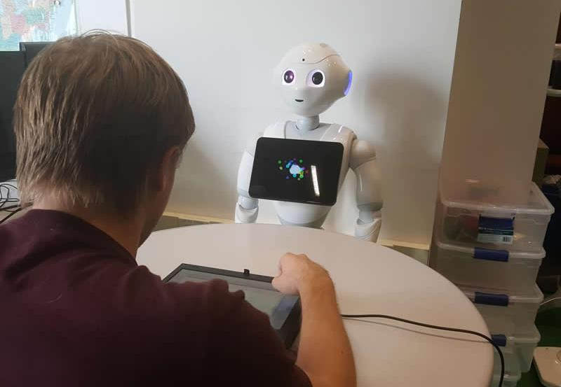 This shows the robot