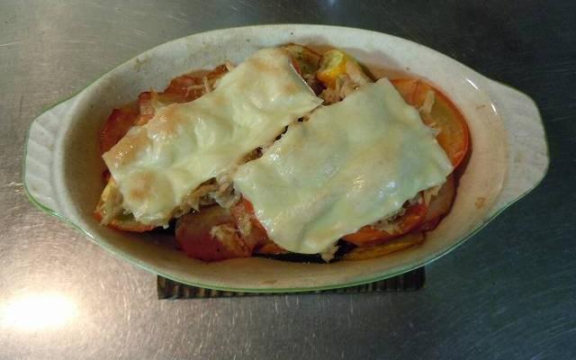 ズッキーニのトマチーツナ・オーブン焼き