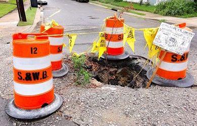 New Orleans Pothole