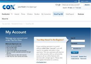 Cox website