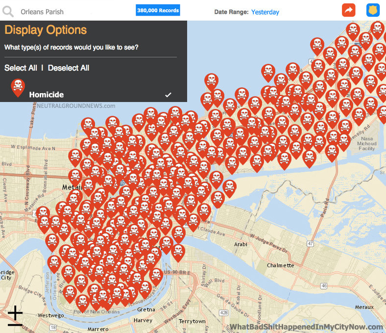 Shootings Overnight Kills Everyone In New Orleans - Baton rouge crime map
